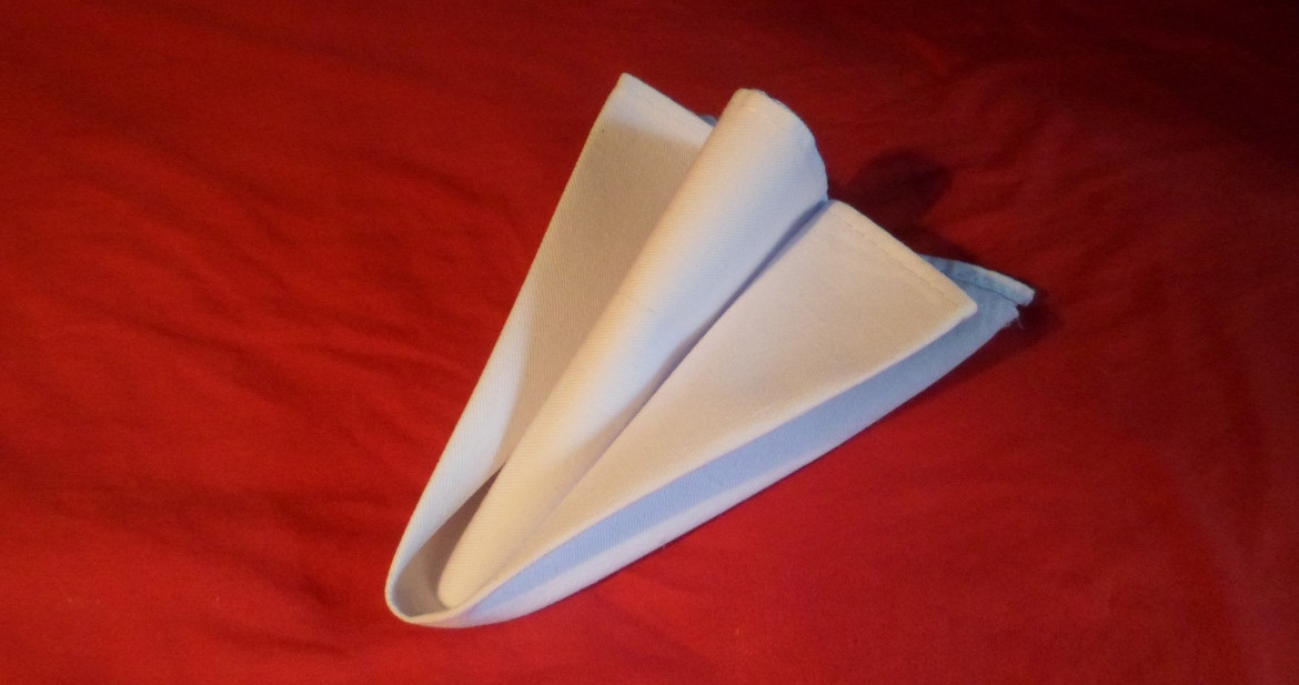 how to fold napkins the arrow head fold final version