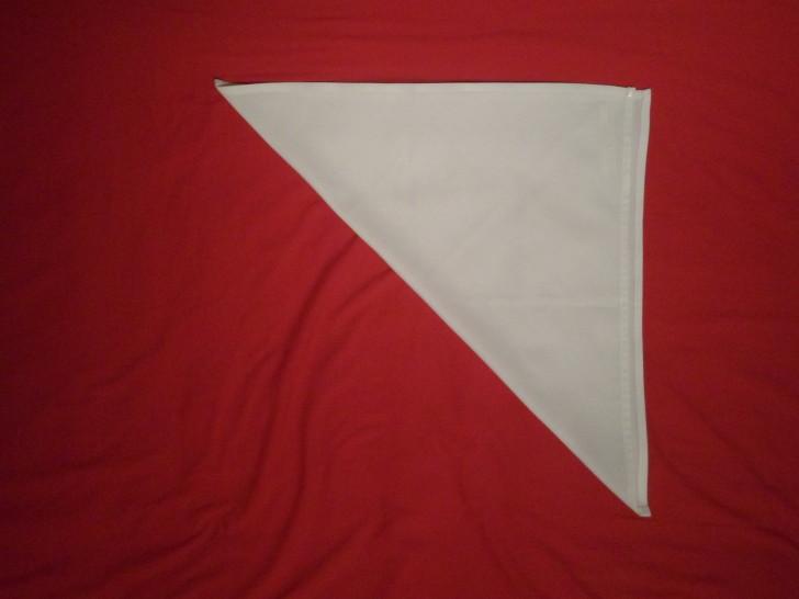 Fancy Napkin Folding Techniques   Rosebud Fold Step Two Fold the napkin in half diagonally.