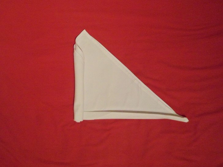 Free Napkin Folding Instructions Candle Fold Step roll the napkin from left to right making sure you keep it tight