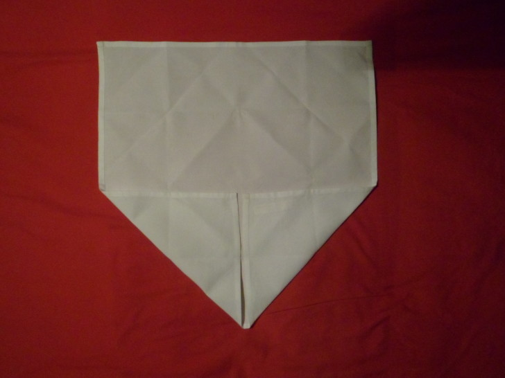 Napkin Folding Rose Fold Step three fold the bottom left up in to the centre
