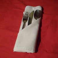 folding napkins for silverware the silverware pouch