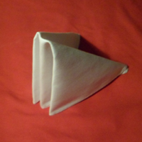 the sail napkin fold completed version