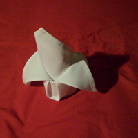 how to fold napkins the crown fold completed version