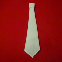 funny napkin origami the tie fold finished